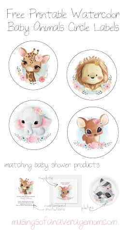 animal baby shower printables