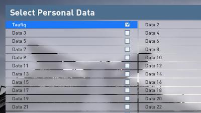 Personal Data Name: untuk mengganti nama DATA 1 menjadi yang anda inginkan, contoh sebagai berikut.