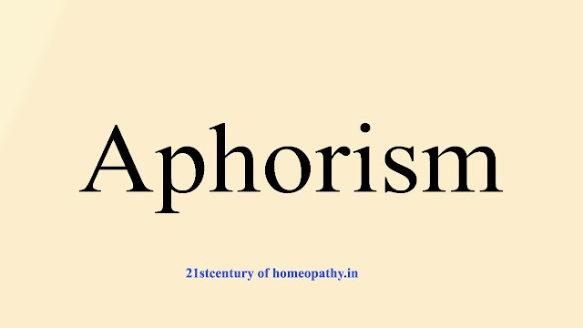 APHORISM – QUICK REVISION WITH CONTENT