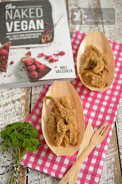 vegan crispy non fried baked mushroom calamari