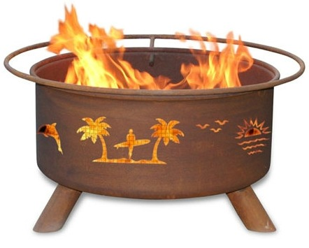 Beach Theme Portable Fire Pit