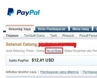 status paypal terverifika Cara mudah Verifikasi akun Paypal dengan VCC tanpa Kartu Kredit