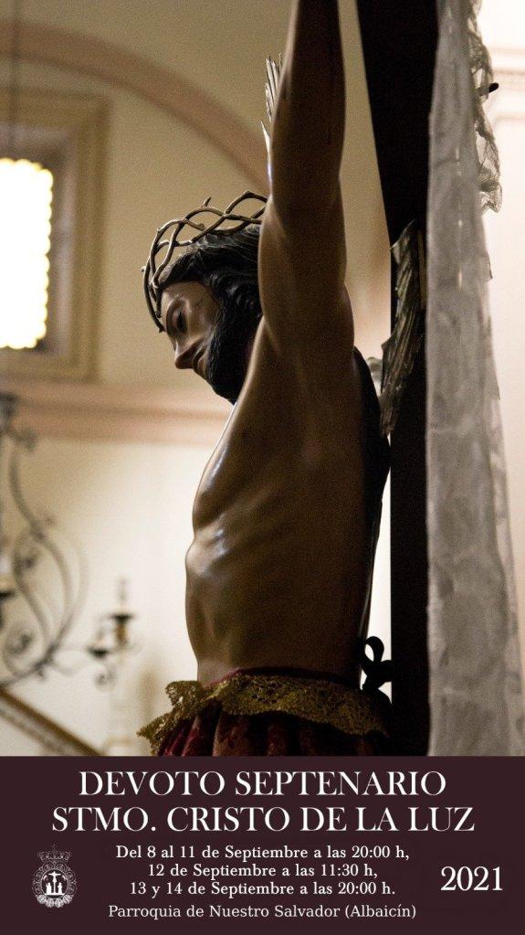 Cartel Cultos en honor y gloria al Santísimo Cristo de la Luz de Granada 2021