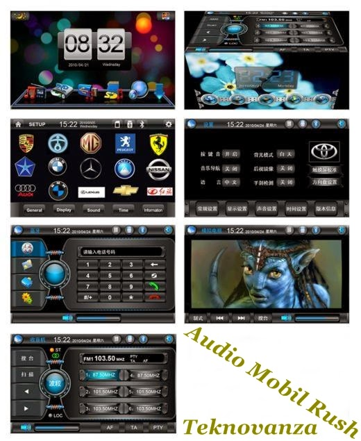 OEM XS-6911(68) Audio Mobil TOYOTA RUSH dengan GPS, Touch Screen, RDS dvd player mobil