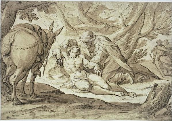 O Bom Samaritano - Hans Von Aachen e suas pinturas ~ Um grande pintor do estilo maneirista