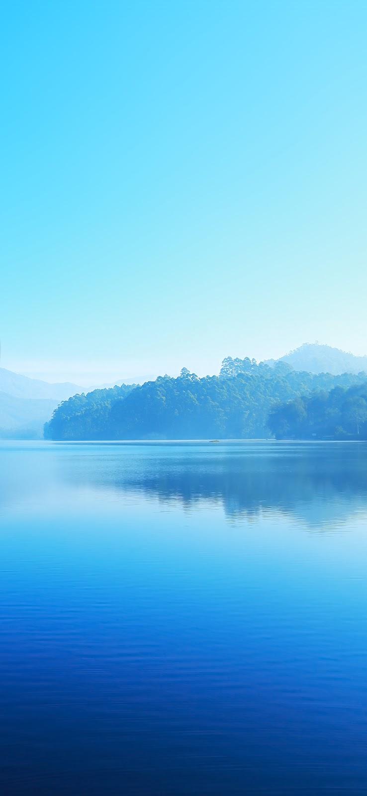 blue lake beautiful nature wallpaper
