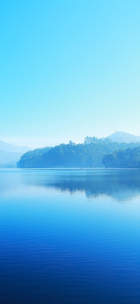 Blue lake beautiful nature wallpaper