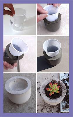 Molde de cemento