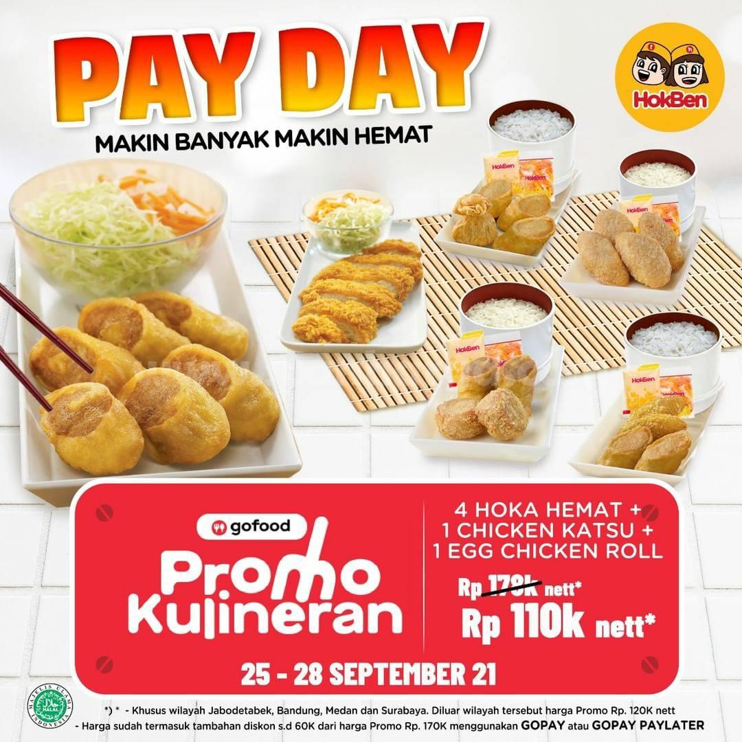 Promo HOKBEN GAJIAN Terbaru 25-28 September 2021 - GOFOOD PAYDAY