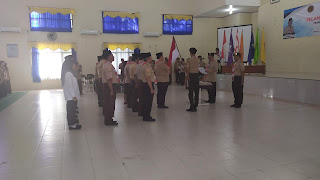 BNN Kota Cirebon Kukuhkan Saka Pramuka Bersinar