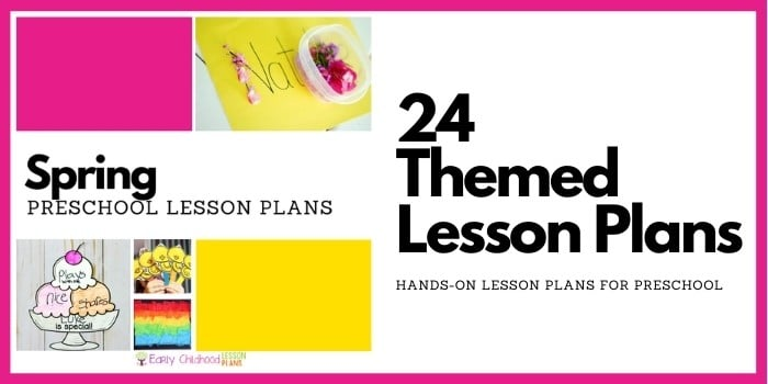 spring preschool lesson plans
