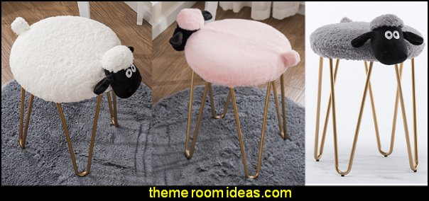 makeup stool lamb wash stool Nordic designer furniture vanity stool nail shop stool  novelty furniture - unique furniture - unusual gifts - novelty lighting - fun decorations -  unique gifts - uncommon furniture - fun gifts - fun furniture - online home furnishing shopping -