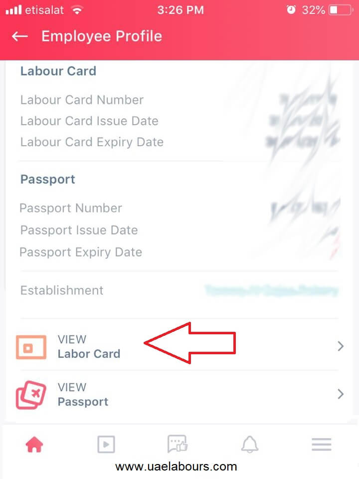 view labor card, view labour card online, download labour card