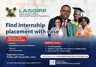 Lagos State Graduate Internship Placement Form 2020 | LASGIPP