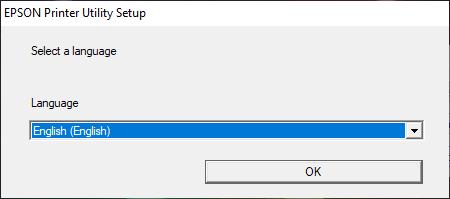 pilih bahasa install driver epson l120