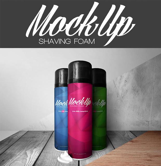 Free Shaving Foam Mock-up in PSD