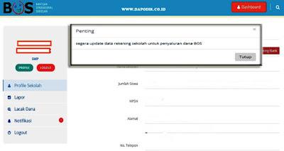 Himbauan, Segera Update Data Rekening Bos Untuk Penyaluran Dana BOS Tahun 2020-Tutorial Lengkap Cara Update Data Rekening Sekolah Untuk Penyaluran Dana BOS Tahun 2020 Verval Rekening BOS Terbaru