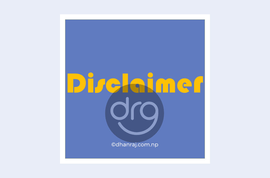 disclaimer-dhanrajs-blog