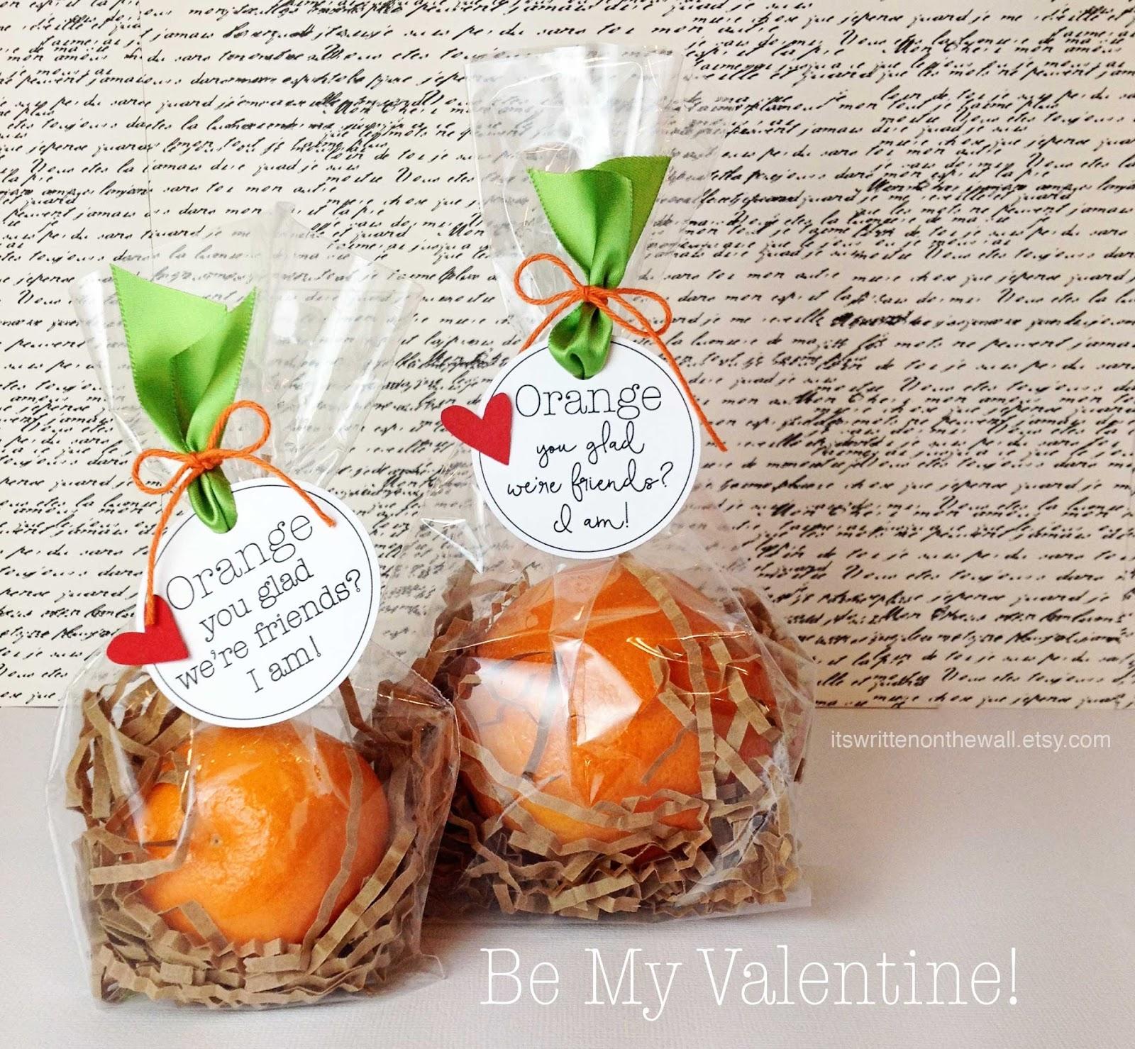 Orange You Glad We're Friends? Valentine Treat