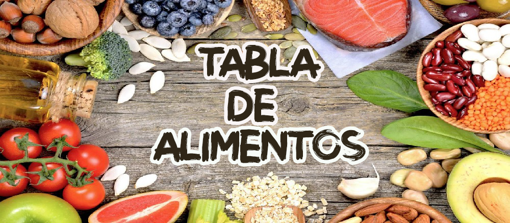 TABLA DE ALIMENTOS COMPATIBLES