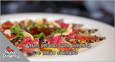Atum selado com pimenta e limão siciliano