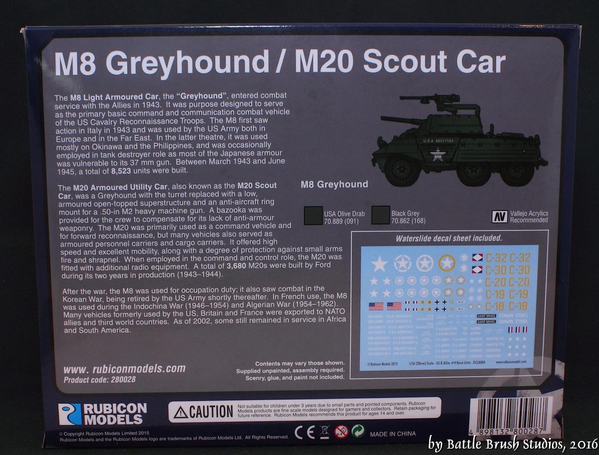Battle Brush Studios: Review: Rubicon Models M8 Greyhound