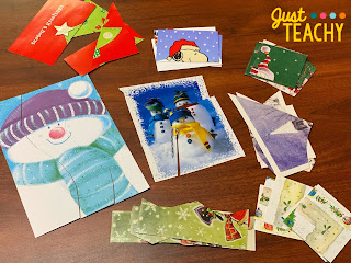 Party Games - Christmas Card Puzzles