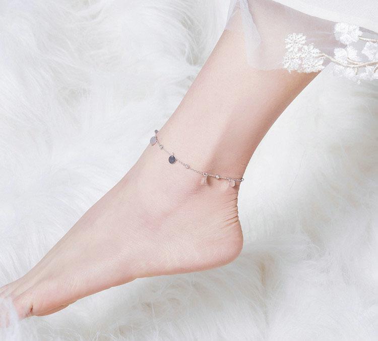 波西米亞 925純銀腳鍊