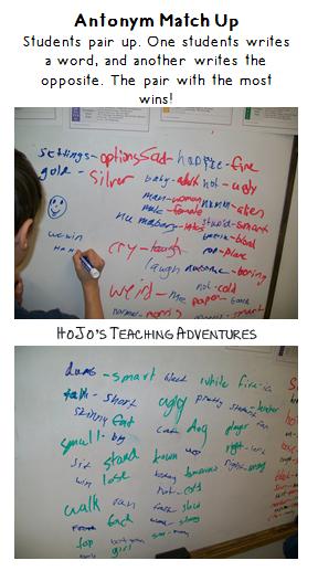 Work Work Ideas for Upper Elementary - Synonyms/Antonyms