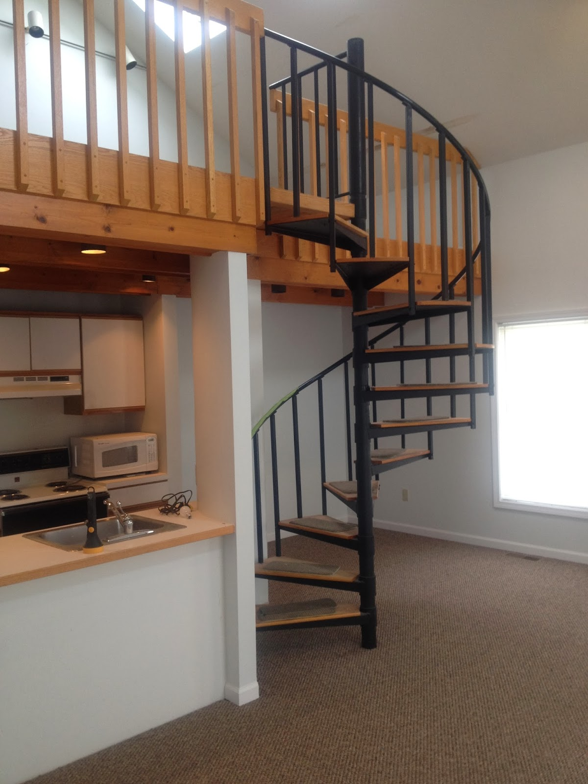 Who Doesn T Love A Spiral Staircase Leading Up To A Loft   Loft With Spiral Staircase   Small   Contemporary   Addition   Timber   New