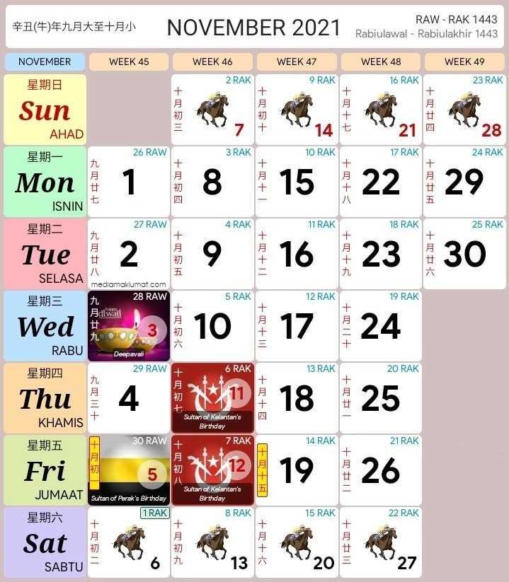 kalendar 2021 cuti sekolah