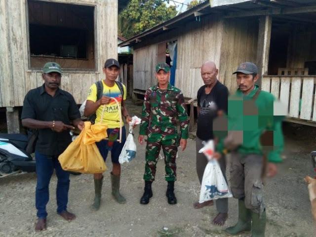 Dua Orang Pemburu Satwa Dilindungi Diamankan Satgas Pamtas Yonif PR 328 Kostrad