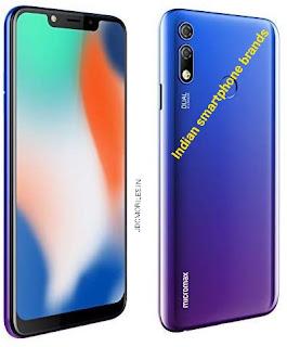 Indian smartphone brands 2020