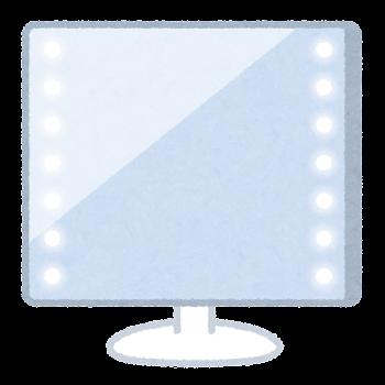 LEDミラーのイラスト