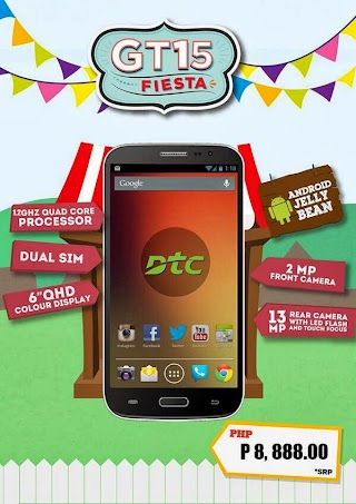 DTC GT15 Fiesta, 6 inches Quad Core Android Mobile Phone