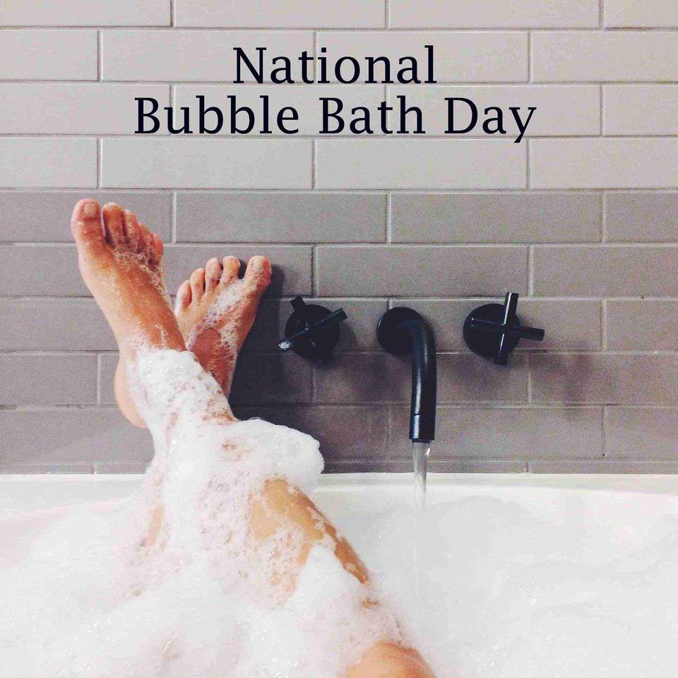 National Bubble Bath Day Wishes Beautiful Image