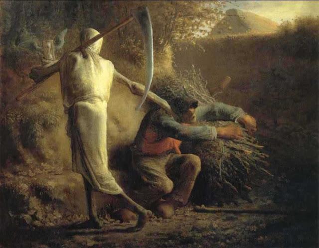 Жан Франсуа Милле - Смерть и дровосек. 1859
