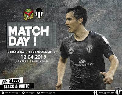 Live Streaming Kedah vs Terengganu Liga Super 12.4.2019