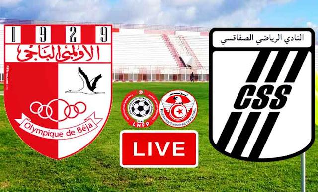 Match Olympique Béja VS CS Sfaxien Live Stream