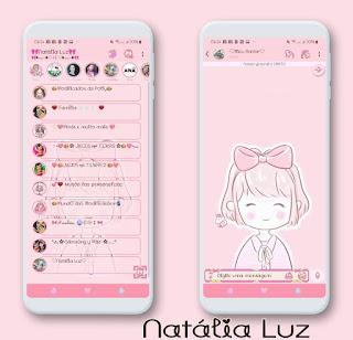 Cute Girl Theme For YOWhatsApp & RA WhatsApp By Natalia Luz