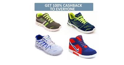 (Ebay Loot) 100% Cashback on Nexa Footwear + Free Shipping (BMS Voucher)