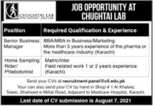 JOBS | Chughtai Lab Senior Business Manager