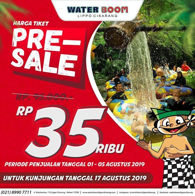 #WaterBoomLippoCikarang - #Promo Harga Tiket Pre-Sale Hanya 35K (s.d 05 Agustus 2019)