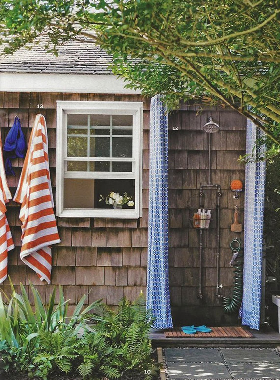 Outdoor shower | Image by Simon Watson via Martha Stewart Living via Apartment Therapy