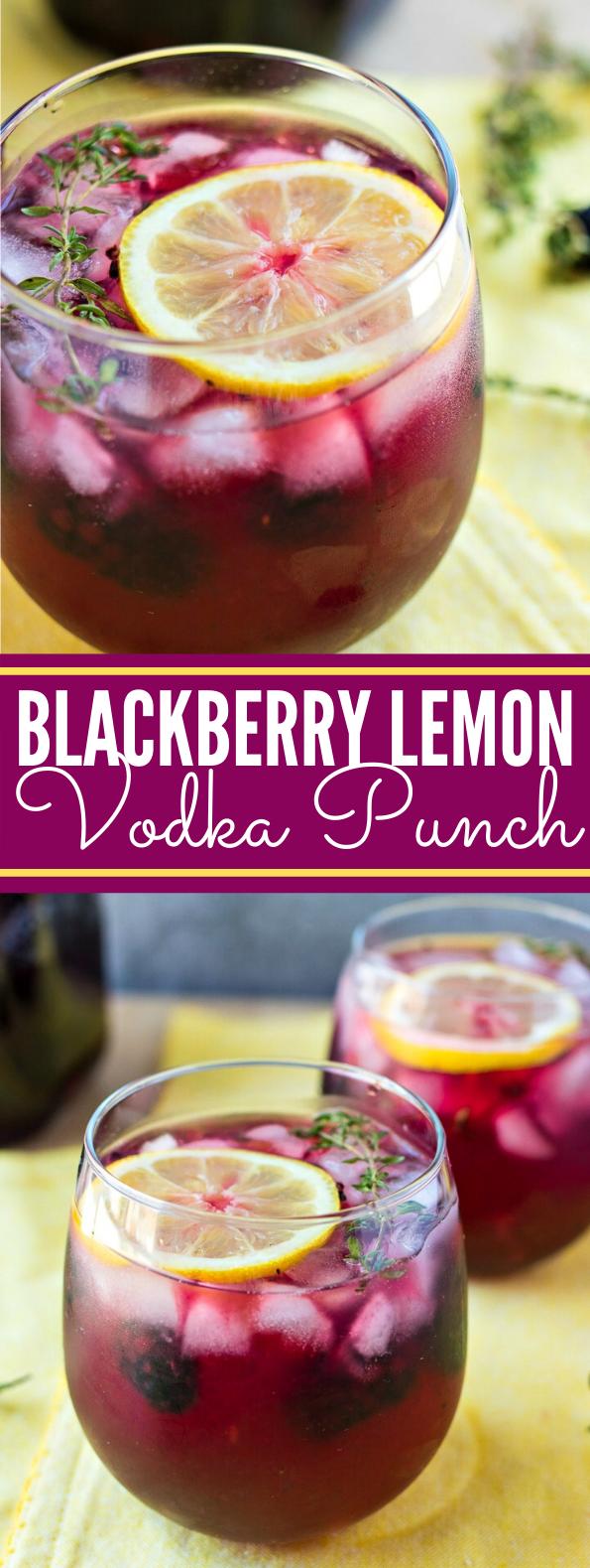 BLACKBERRY LEMON VODKA PUNCH DRINKS #cocktails #summerday #vodka #punch #drinks