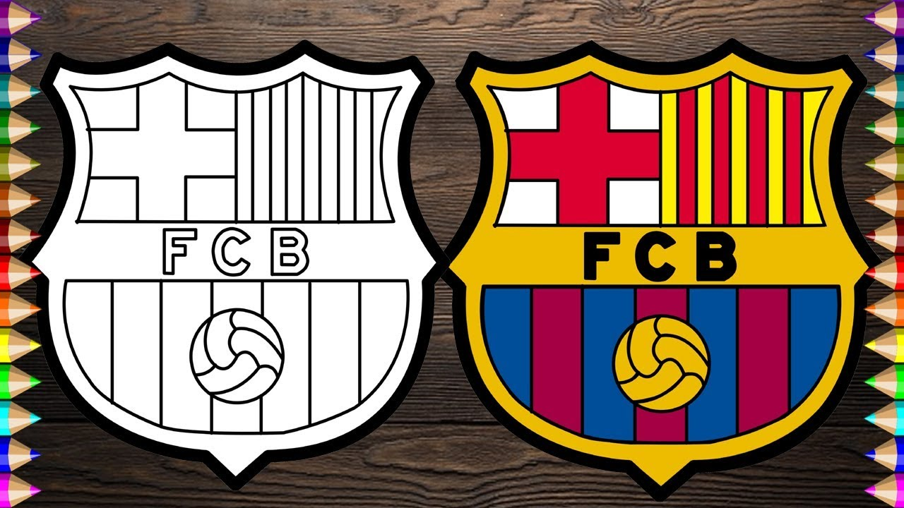 Escudo do time do Barcelona para imprimir e colorir