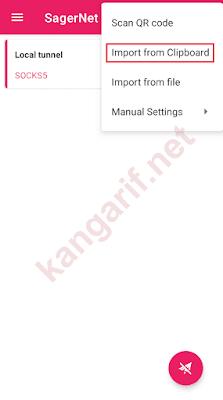 klik import from clipboard