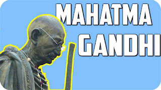 This image shows image of Mahatma Gandhi with a stick, this Image is use for Marathi essay on mahatma Gandhiji.
