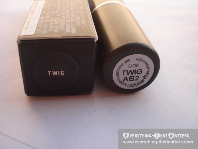 MAC Twig Lipstick: Swatch, Review And LOTD