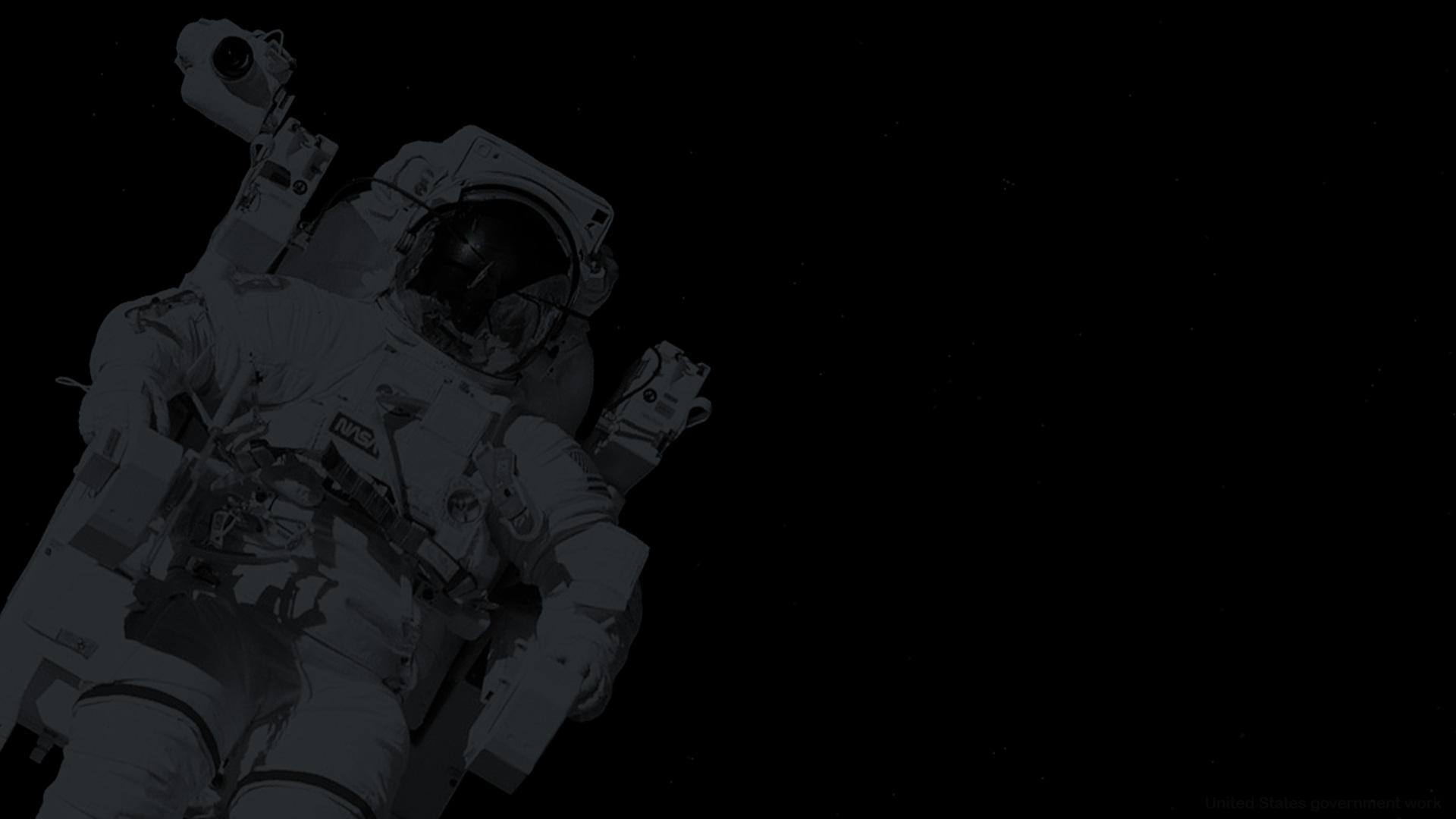 Astronaut Dark Background for presentations